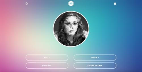 Screenshot of a Song Guesser project